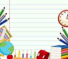 Themenorientierte Hintergrundvorlage für die Schule vektor