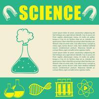 Banderolldesign med vetenskapssymboler