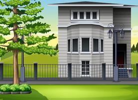Modernt hus vid parken vektor