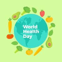 världens hälsodag illustration