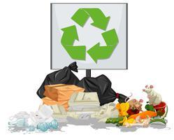 Haufen Müllszene