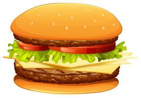 Hamburger med kött och ost vektor