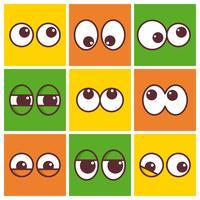 Vektor-Cartoon-Augen vektor