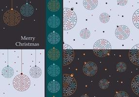 Bunte Weihnachten Ornamente Vector Wallpaper Pack