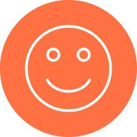 Glückliche Emoji-Vektor-Ikone vektor