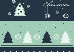 Grüne Weihnachten Wallpaper und Vector Pack