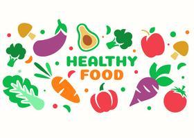 Gesunde Nahrungsmittelvektor vektor