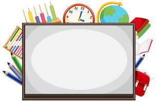Mathe Whiteboard Grenze Hintergrund vektor