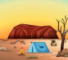 Camping i öknen vektor