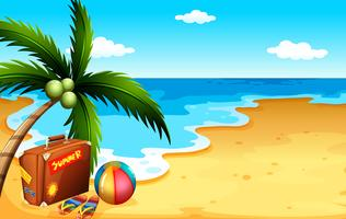 Sommar på stranden vektor