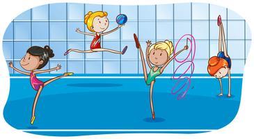 Gymnastik vektor