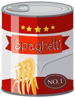 Spaghetti i aluminiumburk vektor