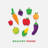 Gesunde Nahrungsmittelvektor