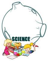 Två tjejer och vetenskapsutrustning