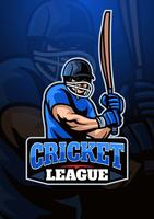 cricket player logo vektor