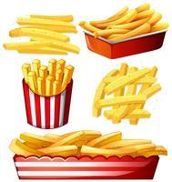 Set heiße Chips vektor