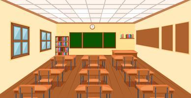 Modern empty klassrum bakgrund vektor