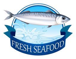 Thunfisch-Banner vektor