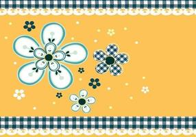 Gingham und Gänseblümchen Vector Wallpaper