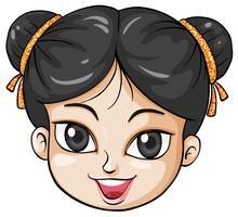 Ett ansikte av en ung kinesisk kvinna