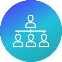 Organisations-Vektor-Symbol vektor