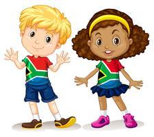 Jungen und Mädchen aus Südafrika vektor