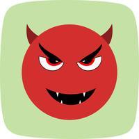 Teufel Emoji-Vektor-Symbol vektor