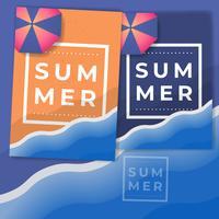 Sommerferienlager Plakat Vorlage