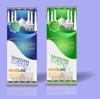 Ramadan Rollup Banner 1 vektor