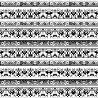 etnisk sömlös randig mönster bakgrund i vita och svarta färger vektor