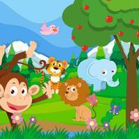 Vilda djur i djungeln