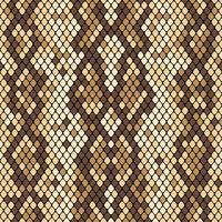 Schlangenhaut nahtlose Muster. Realistische Textur der Schlange oder einer anderen Reptilienhaut. Beige und braune Farben. Vektor illustartion