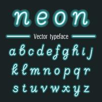 Handskriven Vector Neon Light Alphabets