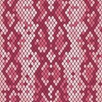 Snakeskin sömlöst mönster. Realistisk textur av orm eller annan reptilhud. Rosa lila färger. Vektor illustration