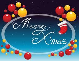 Frohe Weihnachten Karte mit Ornamenten vektor