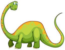 Dinosaur med lång nacke och svans