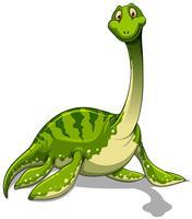 Grön brachiosaurus med lång nacke