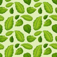 Nahtloses Muster des grünen Blattes