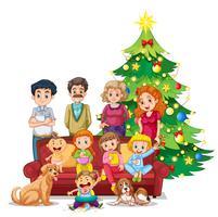Familj samlas på jul