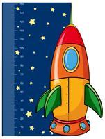 höjdmätningsdiagram med raket