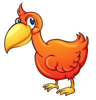 orangener Vogel vektor