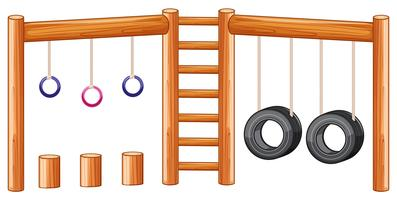 Playground equiment vit bakgrund vektor