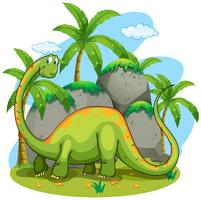 Dinosaurier mit langem Hals