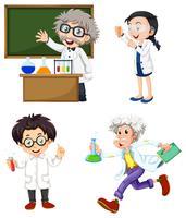 Vier Chemiker vektor