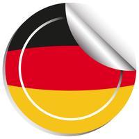 Aufkleberentwurf für Flagge Deutschlands vektor