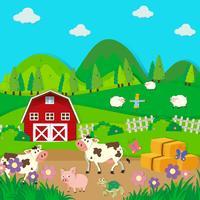 Gårddjur som bor på gården