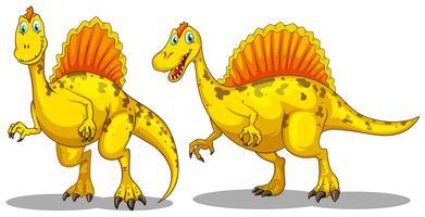 Dinosaur med skarpa tänder
