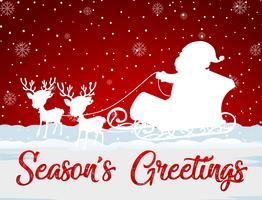 Rote Weihnachtskartenschablone