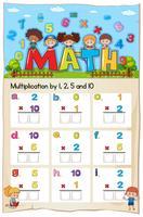 Mathematik Arbeitsblatt Multiplikationsnummer Kapitel
