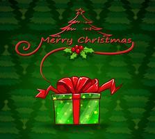 En julkortsmall med en låda vektor